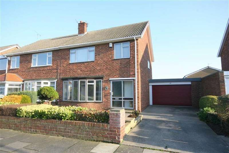 3 Bedrooms Semi Detached House for sale in Whitecliff Close, North Shields, Tyne Wear, NE29