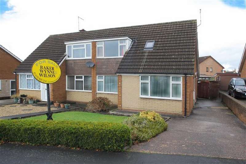 3 Bedrooms Semi Detached Bungalow for sale in Mount Close, Nantwich, Cheshire