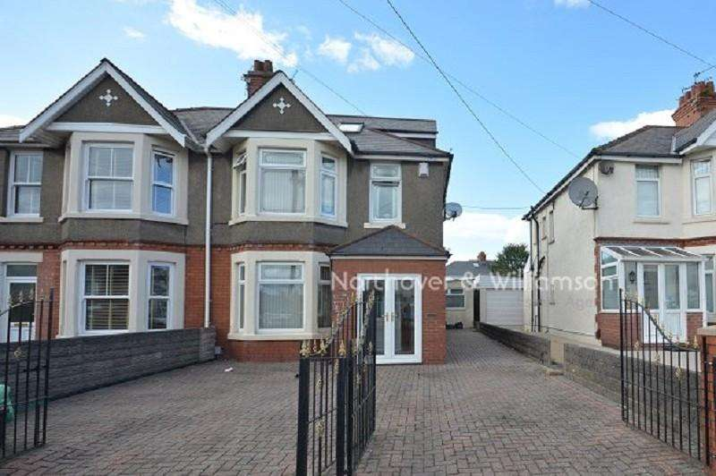 4 Bedrooms Semi Detached House for sale in Ty Fry Road, Rumney, Cardiff. CF3