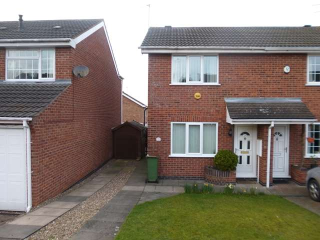 2 Bedrooms Semi Detached House for sale in Blackthorn Road, Glenfield, Leicester. LE3