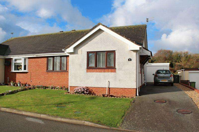 2 Bedrooms Semi Detached Bungalow for sale in Cae'r Mynydd, Holyhead
