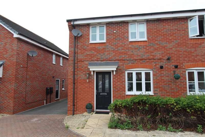 3 Bedrooms Semi Detached House for sale in Amblerise Close, Bolehall, B77 3AY