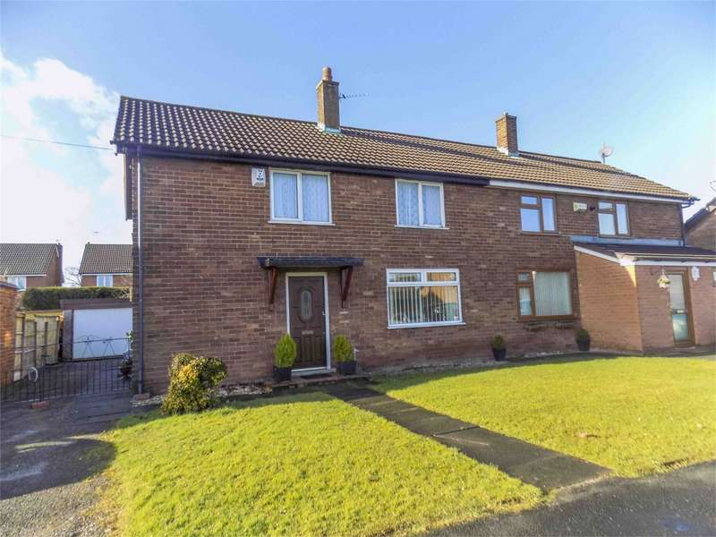 3 Bedrooms Semi Detached House for sale in Glebeland, Culcheth, Warrington, Cheshire