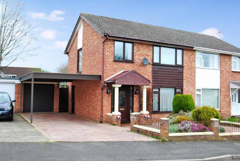 3 Bedrooms Semi Detached House for sale in Deane Drive, Taunton