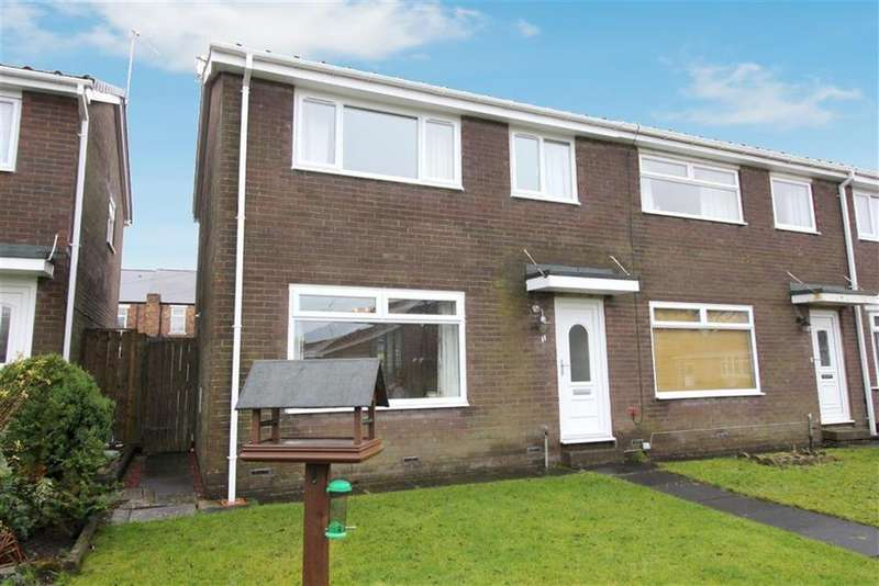 3 Bedrooms End Of Terrace House for sale in Melock Court, Newcastle Upon Tyne, NE13