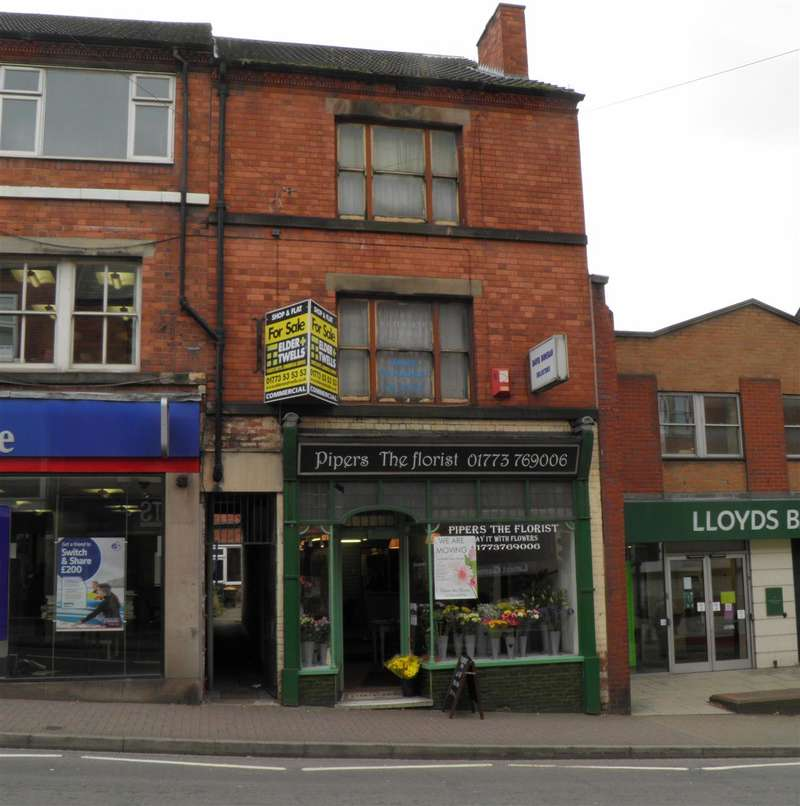 Commercial Property for sale in Ground Floor Shop and Separate First Floor Flat, 27 Market Street, Heanor