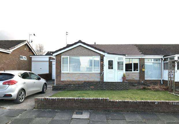 2 Bedrooms Semi Detached Bungalow for sale in BARNARD CLOSE, NEWTON HALL, DURHAM CITY