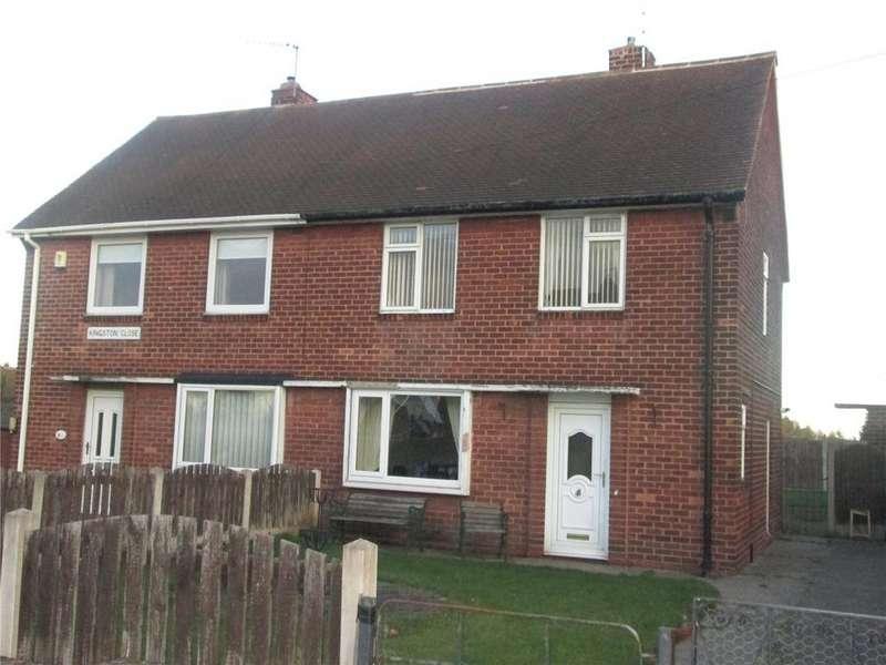 2 Bedrooms Semi Detached House for sale in Kingston Close, Manton, Worksop, Nottinghamshire, S80