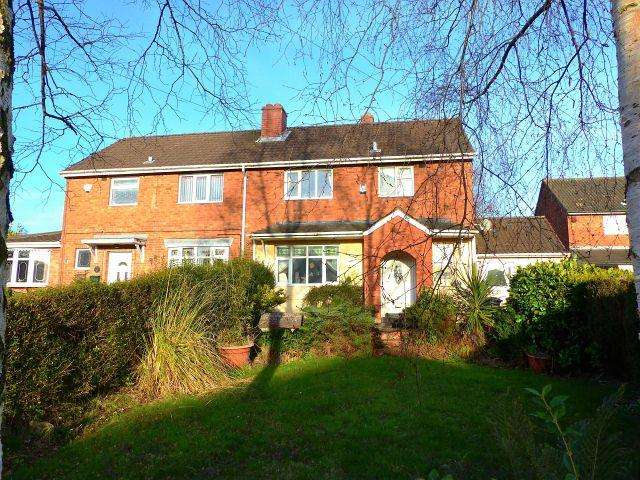 3 Bedrooms Semi Detached House for sale in Hawthorne Crescent,Burntwood,Staffordshire