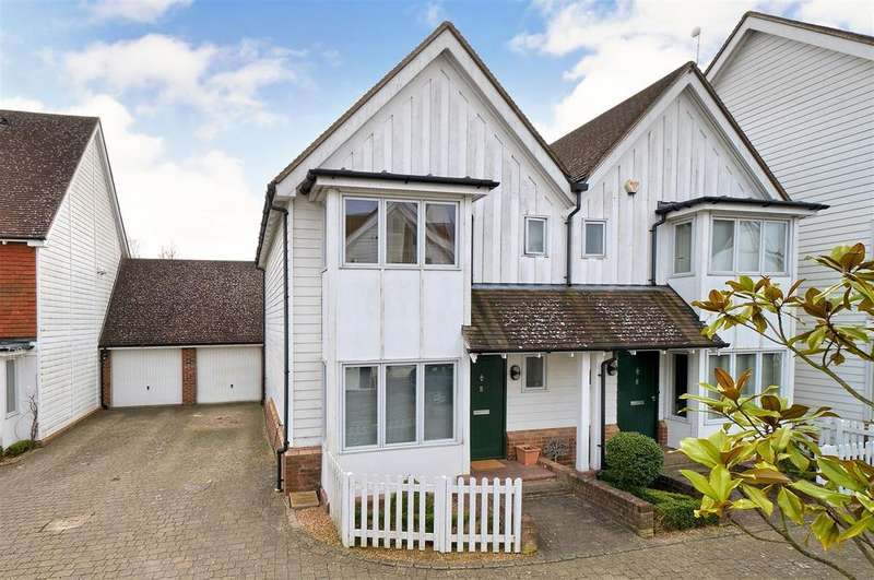2 Bedrooms Semi Detached House for sale in Carlton Close, Kings Hill, ME19 4HS