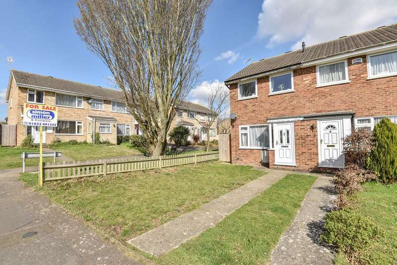 2 Bedrooms End Of Terrace House for sale in Bargrove Road, Vinters Park, Maidstone