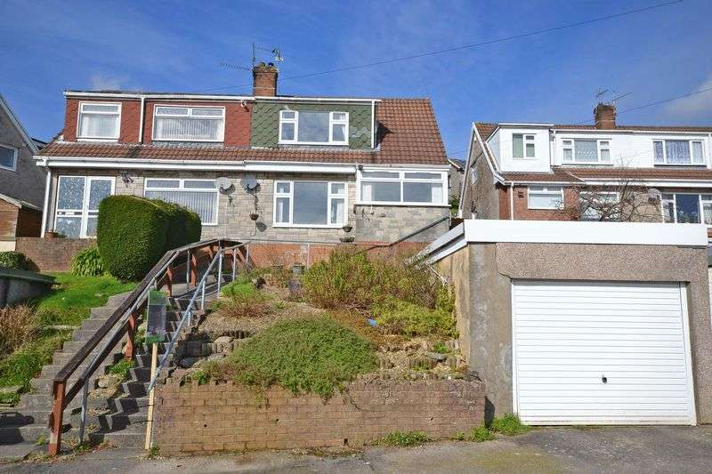 2 Bedrooms Semi Detached House for sale in Superb Semi-Detached House, Malvern Close, Risca