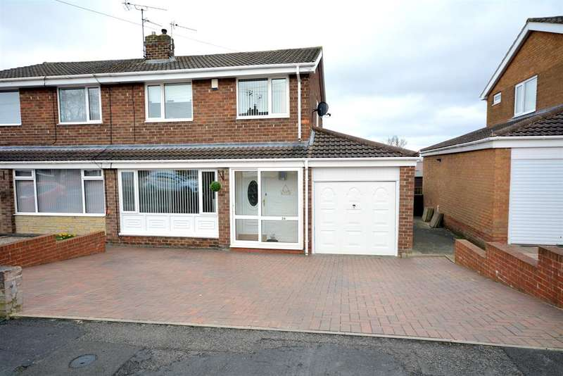 3 Bedrooms Semi Detached House for sale in Ullswater Avenue, West Auckland, Bishop Auckland, DL14 9LR