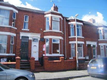 3 Bedrooms Terraced House for sale in Derrington Avenue, Crewe, Cheshire