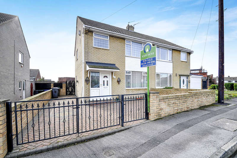 3 Bedrooms Semi Detached House for sale in Cornwall Close, Barnsley, S71