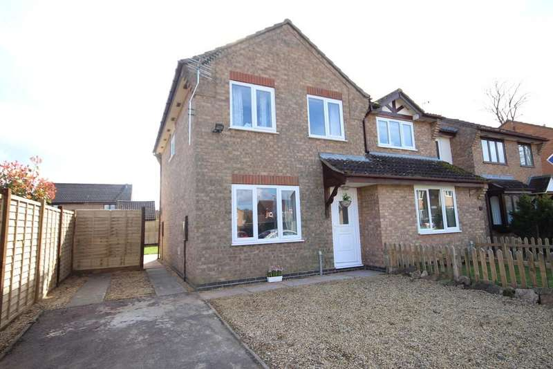 3 Bedrooms Semi Detached House for sale in Plover Close, Oakham