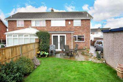 3 Bedrooms Semi Detached House for sale in Lutterworth Drive, Adwick-le-Street, Doncaster
