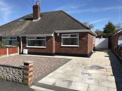 2 Bedrooms Bungalow for sale in Barnes Avenue, Fearnhead, Warrington, Cheshire