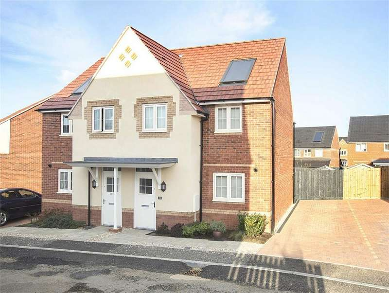 3 Bedrooms Semi Detached House for sale in Osprey Drive, Corby, Northamptonshire