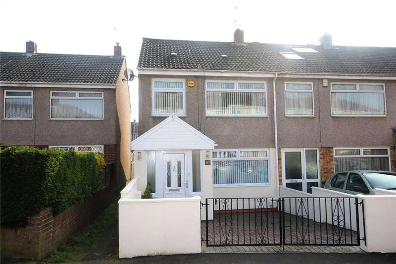 3 Bedrooms End Of Terrace House for sale in Dundridge Lane, St George, Bristol, BS5