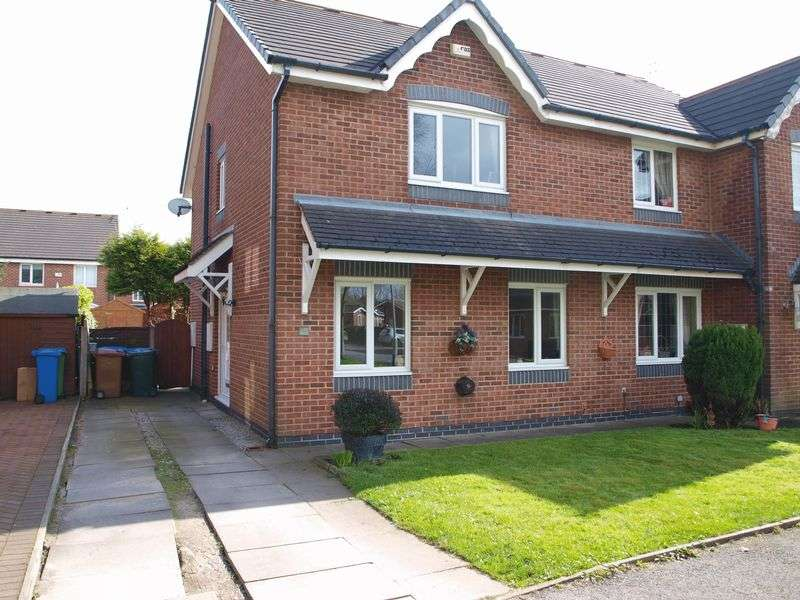 3 Bedrooms Semi Detached House for sale in Lambourne Grove, Milnrow, OL16 4YA