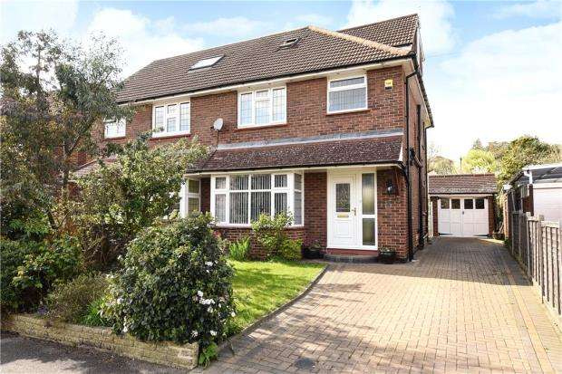 4 Bedrooms Semi Detached House for sale in Spring Avenue, Egham, Surrey