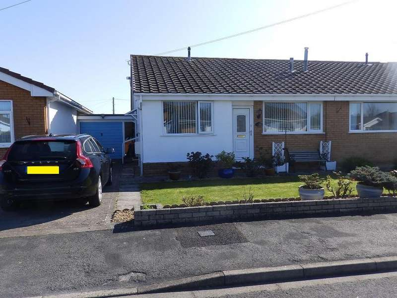 2 Bedrooms Semi Detached Bungalow for sale in Laburnum Drive, Rhyl