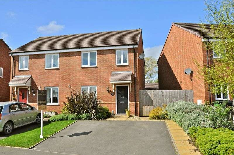 3 Bedrooms Semi Detached House for sale in Greengage Way, Hampton, Evesham, WR11 2AN
