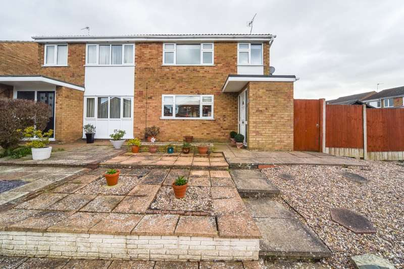 3 Bedrooms Semi Detached House for sale in Georgeham close, WIGSTON, Leicestershire, LE18
