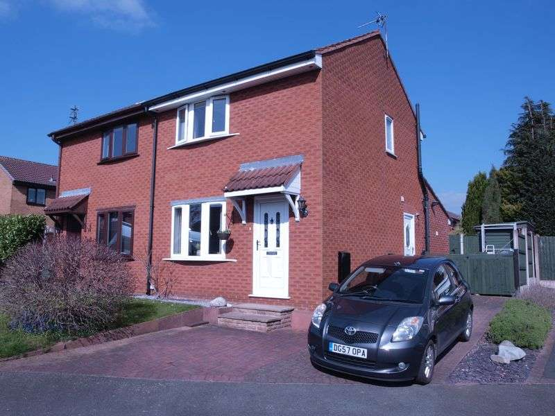 2 Bedrooms Semi Detached House for sale in Bollington Avenue, Leftwich, Northwich, CW9 8SB