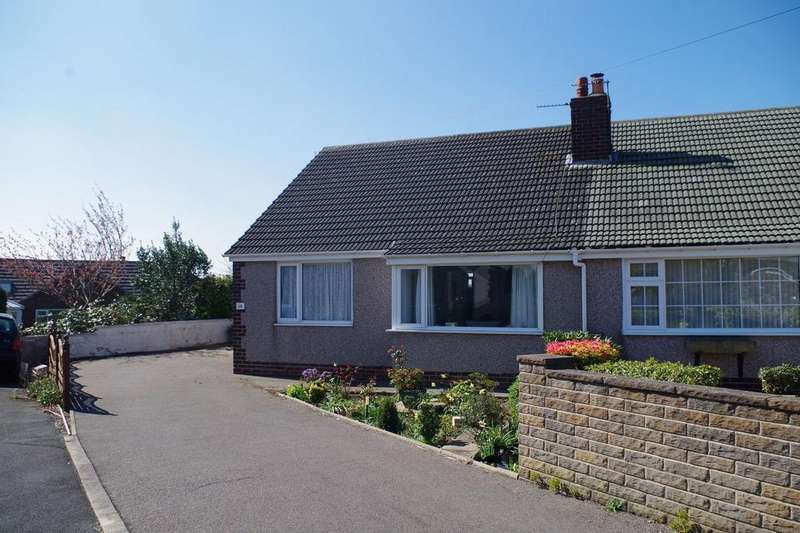 2 Bedrooms Semi Detached Bungalow for sale in Greencroft Avenue, Northowram, Halifax HX3