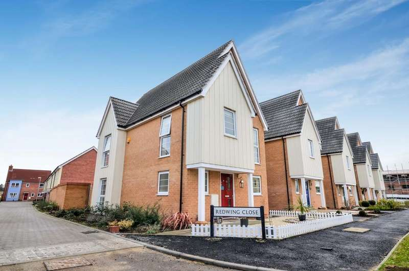 3 Bedrooms Detached House for sale in Plover Road, Stanway, West Colchester