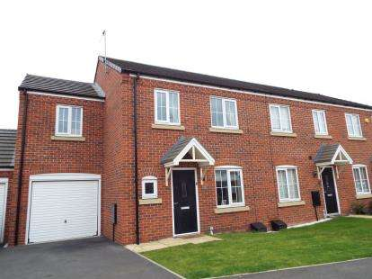 3 Bedrooms End Of Terrace House for sale in Wilton Close, Cannock, Staffordshire