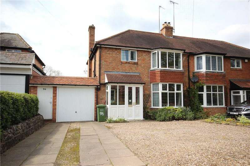 3 Bedrooms Semi Detached House for sale in Church Hill Road, Solihull, West Midlands, B91