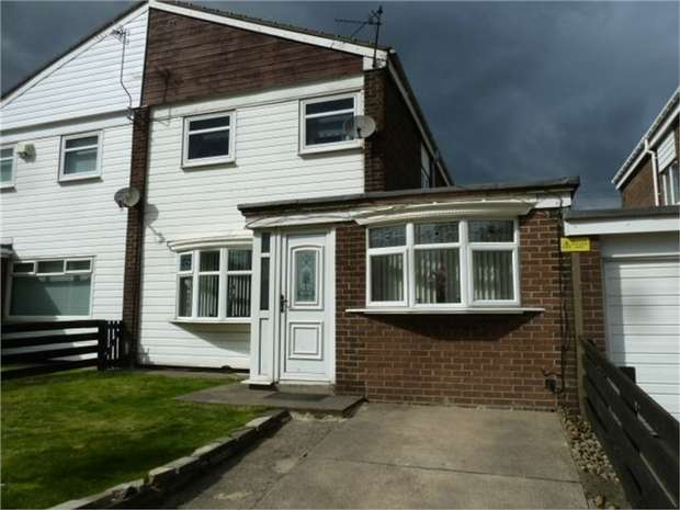 4 Bedrooms Semi Detached House for sale in Grindleford Court, South Shields, Tyne and Wear