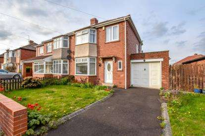 3 Bedrooms Semi Detached House for sale in Saxton Grove, Newcastle Upon Tyne, Tyne and Wear, NE7