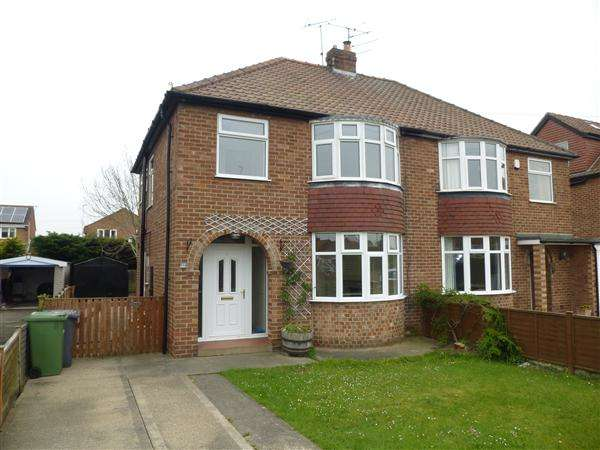 3 Bedrooms Semi Detached House for sale in Bedale Avenue, Osbaldwick, York
