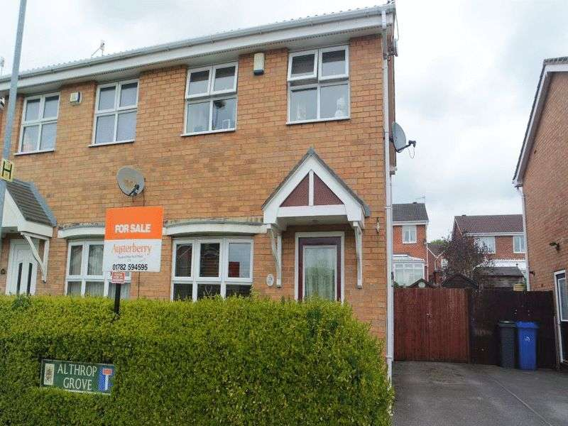 2 Bedrooms Semi Detached House for sale in Althrop Grove, Longton, Stoke-On-Trent, Staffordshire, ST3 1UF