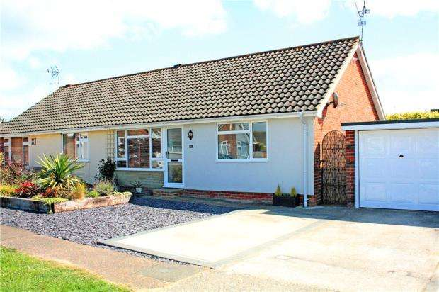 2 Bedrooms Semi Detached Bungalow for sale in Elmhurst Close, Angmering, West Sussex, BN16