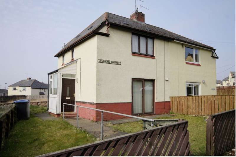 2 Bedrooms Semi Detached House for sale in Deneburn Terrace, Consett, DH8