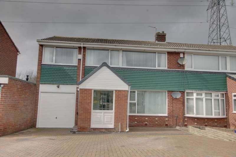 5 Bedrooms Semi Detached House for sale in Casterton Grove, Chapel House, Newcastle Upon Tyne, NE5
