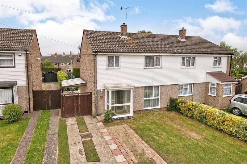 3 Bedrooms Semi Detached House for sale in Hope Avenue, Hadlow