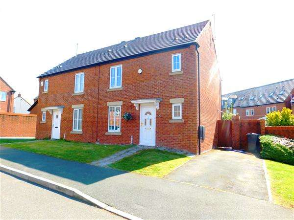 3 Bedrooms Semi Detached House for sale in Yoxall Drive, Kirkby