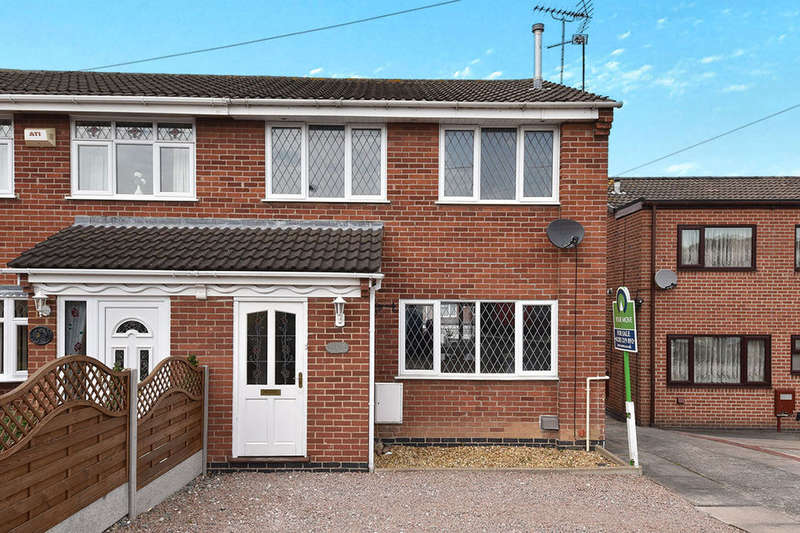 3 Bedrooms Semi Detached House for sale in Ingleby Close, Swadlincote, DE11
