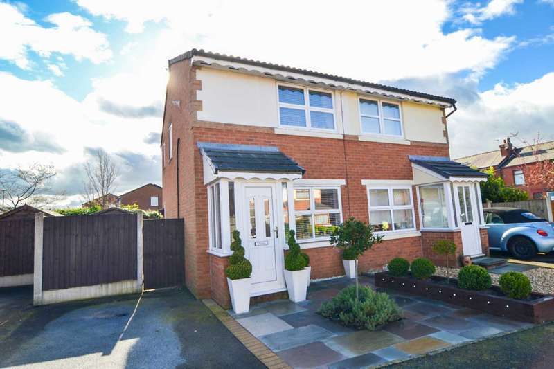 2 Bedrooms Semi Detached House for sale in Squires Close, Haydock