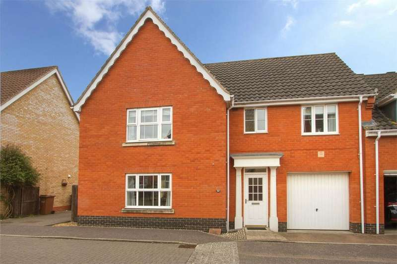 4 Bedrooms Semi Detached House for sale in Burroughs Way, Wymondham, Norfolk
