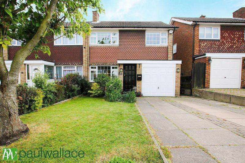 3 Bedrooms Semi Detached House for sale in Hilltop Close, West Cheshunt