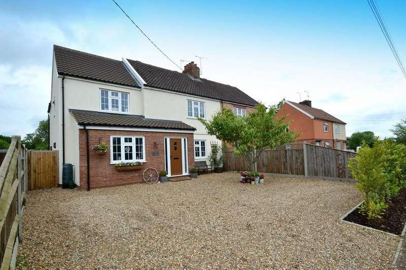 4 Bedrooms Semi Detached House for sale in Stowmarket Road, Great Blakenham, Ipswich, Suffolk