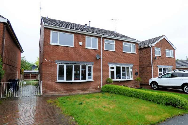 3 Bedrooms Semi Detached House for sale in Greenacres Drive, Uttoxeter