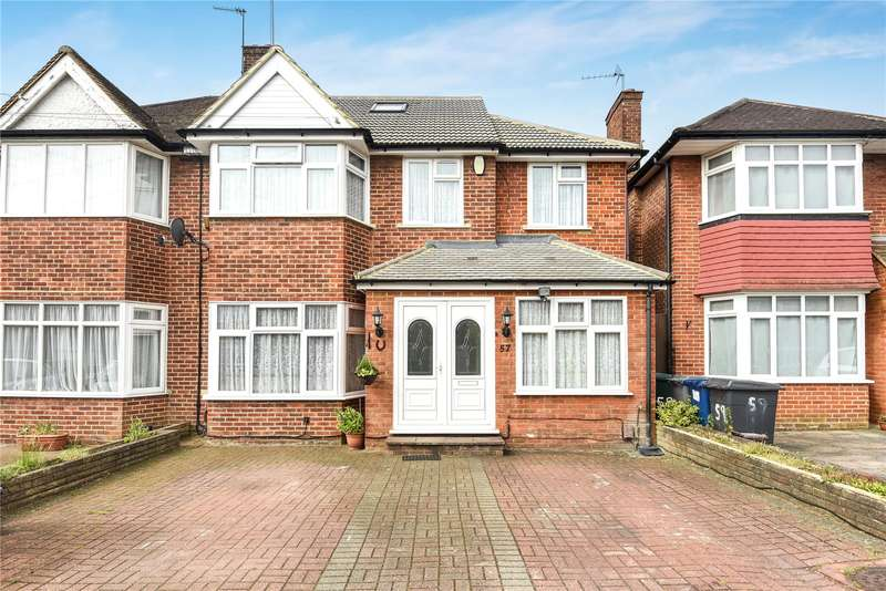5 Bedrooms Semi Detached House for sale in Francklyn Gardens, Edgware, Middlesex, HA8